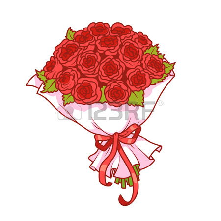 Showing post & media for Cartoon red rose bouquet.