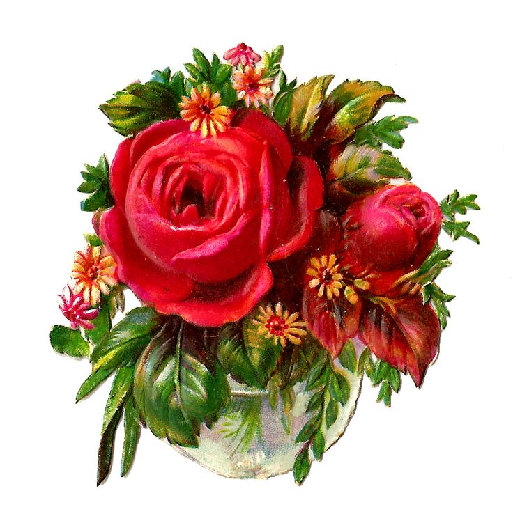 Red Rose Bouquet Clipart Free.