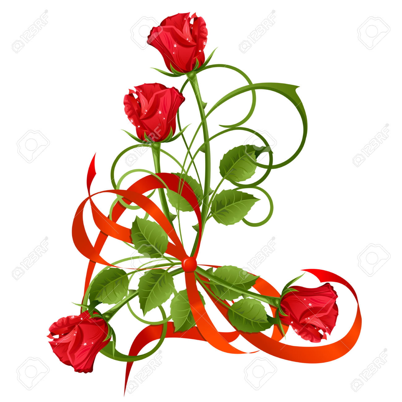 clipart bouquet of red roses - Clipground