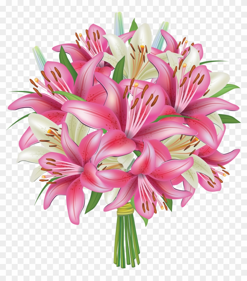 Free Clipart Image Flower Bouquets.