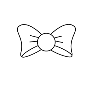 Bow Outline clipart, cliparts of Bow Outline free download.