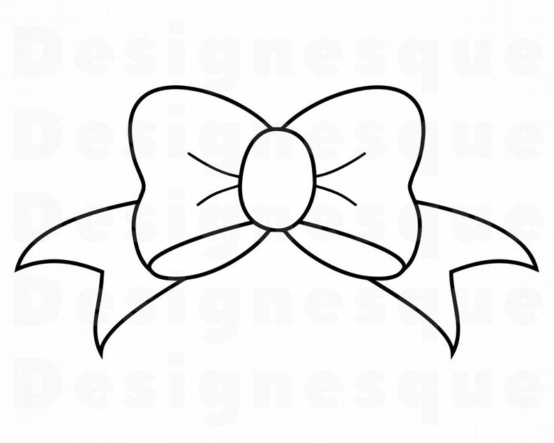 Bows clipart outline, Bows outline Transparent FREE for.