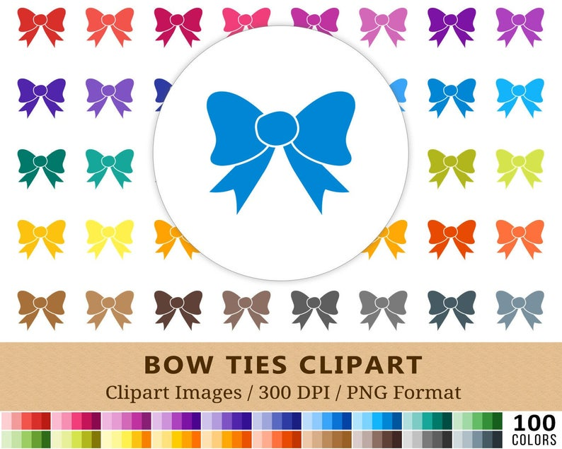 100 Bow Ties Clipart, Bow Tie Clip Art, Rainbow Colors, Digital Planner  Stickers, Scrapbooking, Necktie, Instant Download, Vector EPS PNG.