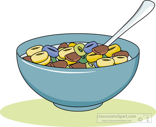 Bowl Of Cereal Clipart.
