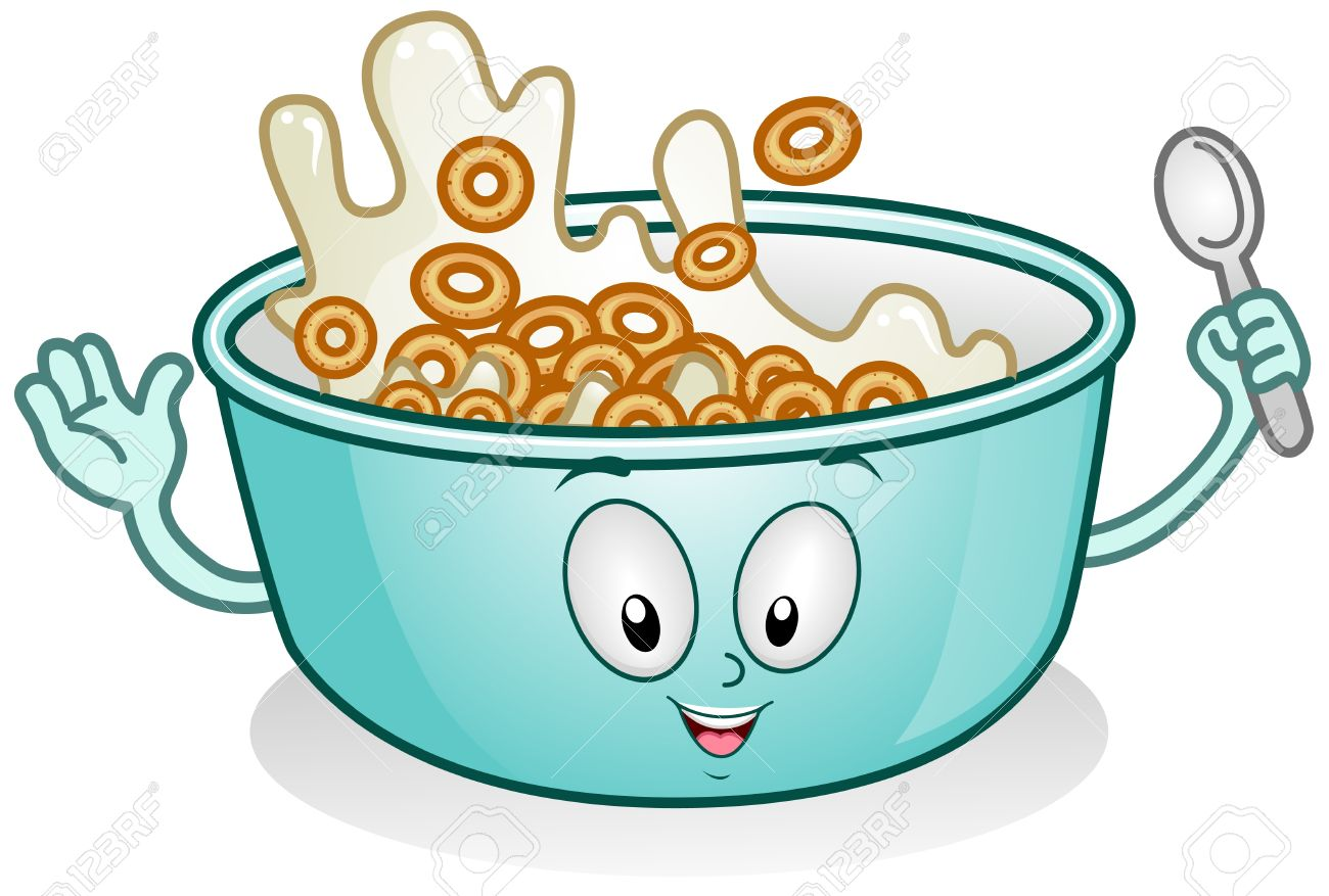Cereal With Milk Clipart.