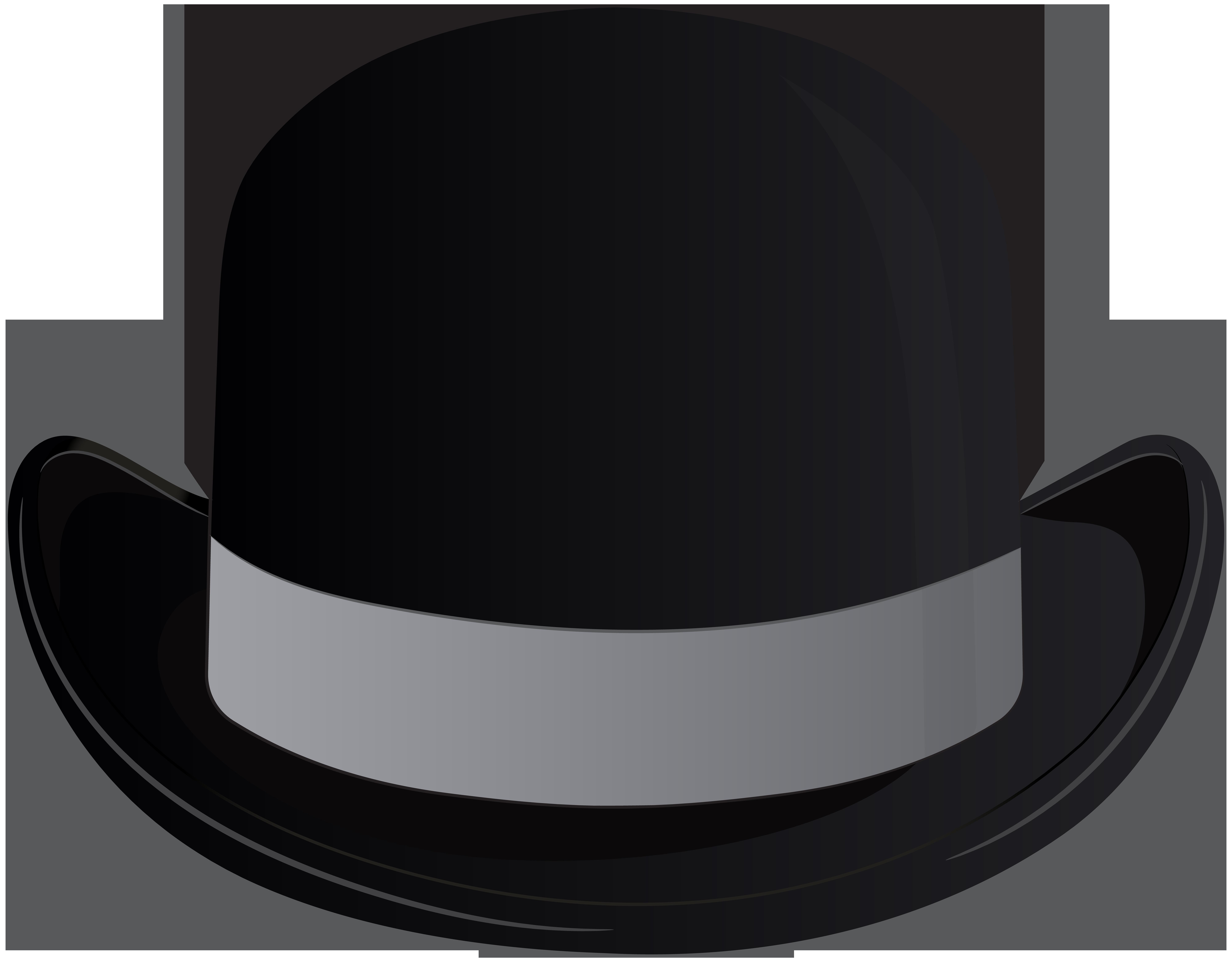 Bowler Hat Transparent Clip Art PNG Image.