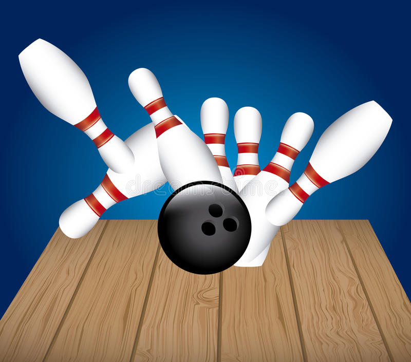 Bowling Alley Cartoon Clipart Stock Illustration.