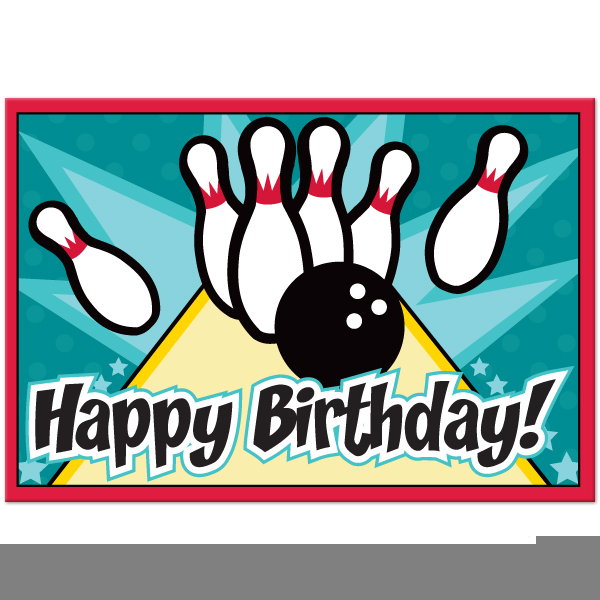Bowling Party Clipart.