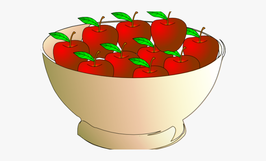 Apple Clipart Bowl.