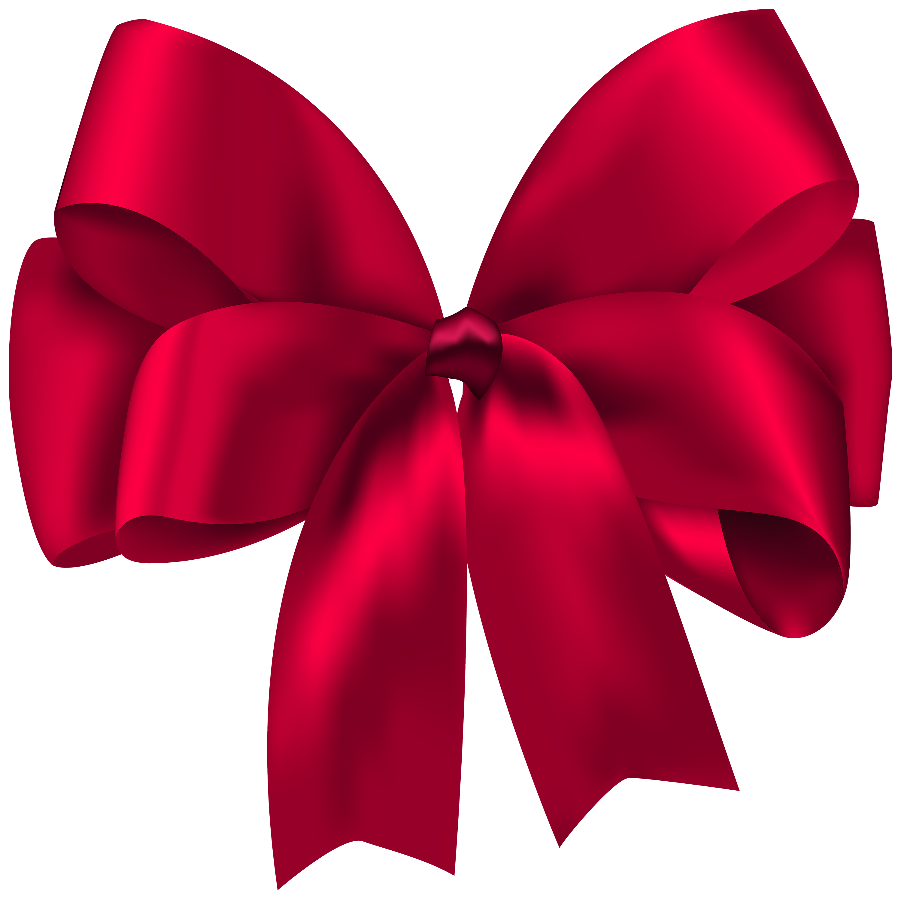 Beautiful Red Bow PNG Clipart.