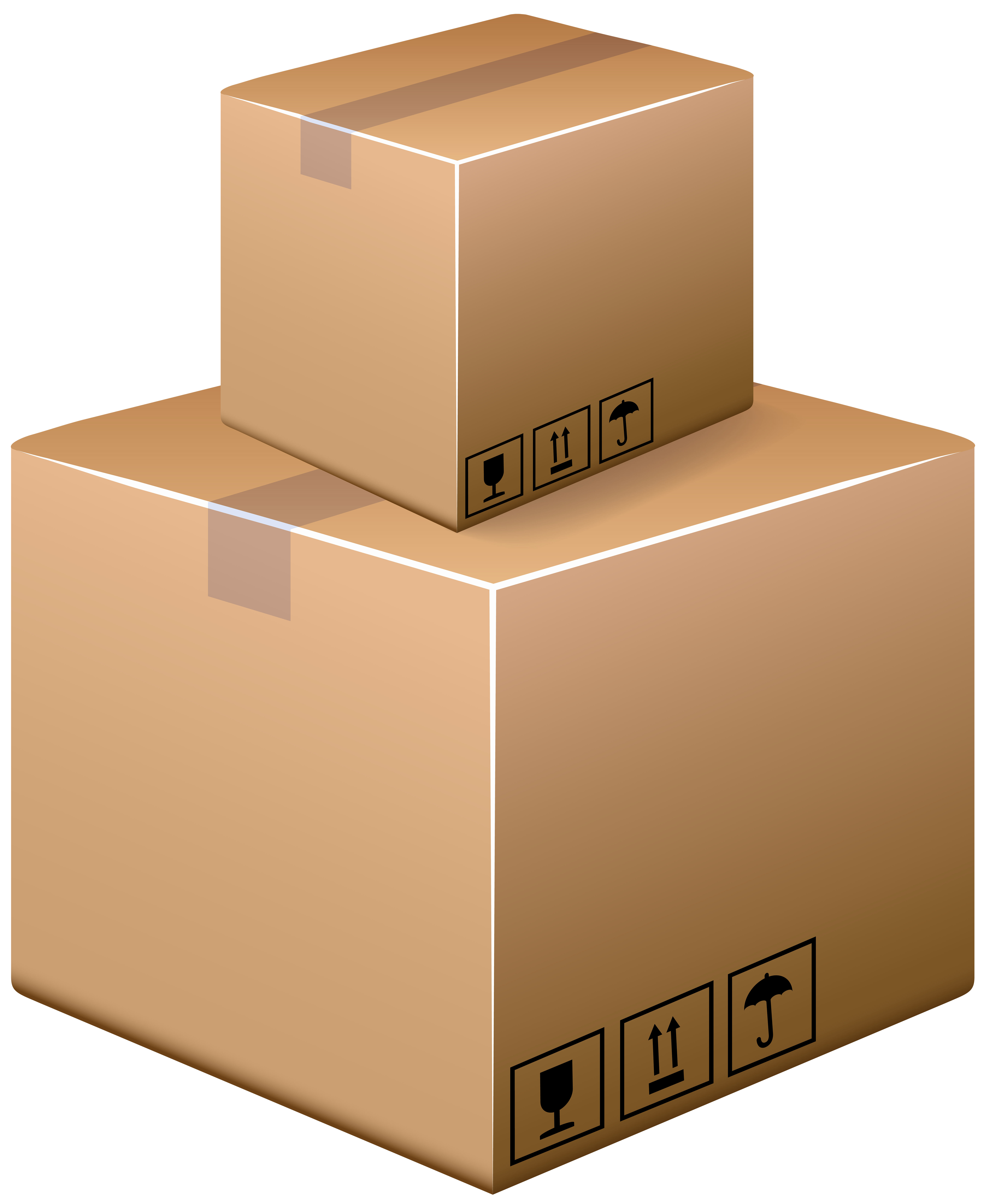 Cardboard Boxes PNG Clip Art.