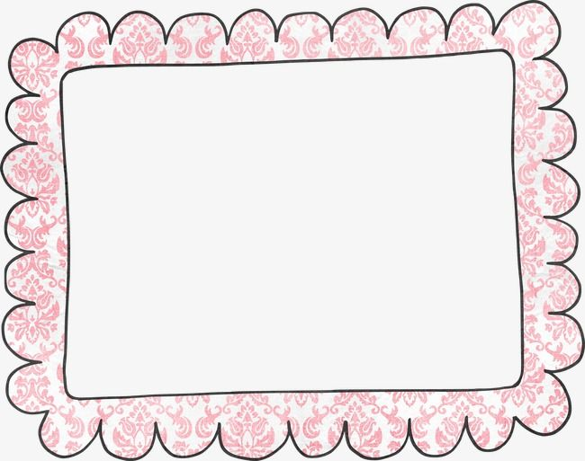 Hand Painted Border, Title Box, Frame, Painted PNG.