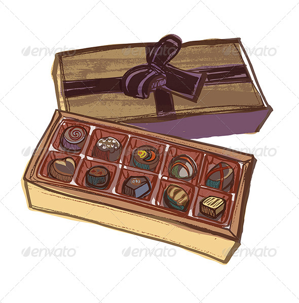 Chocolate clipart box chocolate, Picture #354179 chocolate.