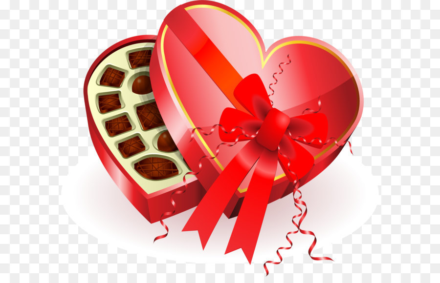 Chocolate box art Heart Valentine\'s Day Clip art.