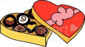 Illustrated Box of Chocolates Clipart.