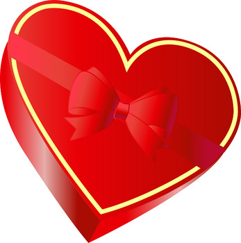Free Valentine\'s Day Heart Shaped Box of Chocolates.