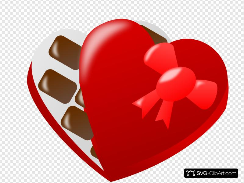 Heart Shaped Box Of Chocolates Clip art, Icon and SVG.