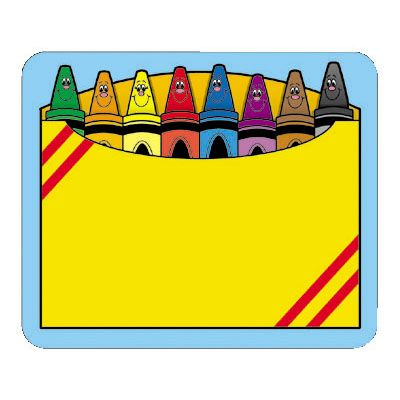 Opened crayon box clipart.