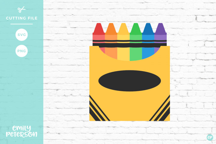 Box of Crayons SVG DXF EPS PNG.