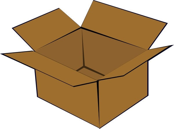 Cardboard Box clip art Free vector in Open office drawing.