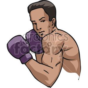 boxer vector clipart. Royalty.