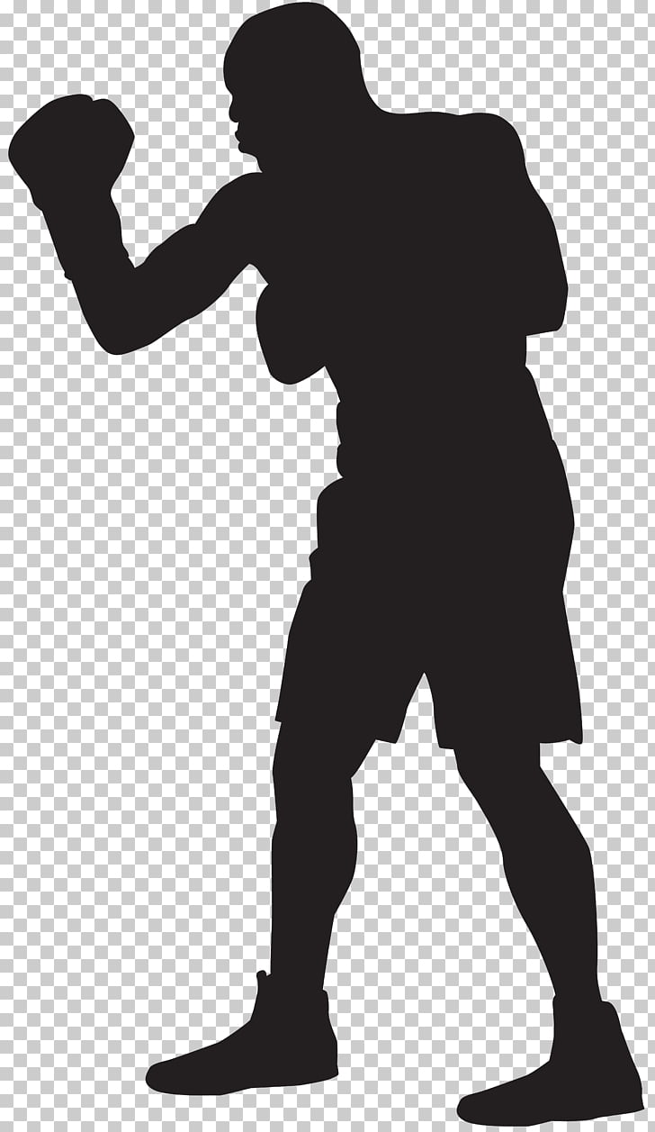 Boxer Silhouette , Boxing PNG clipart.