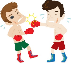 Boxer clipart boxing fight, Boxer boxing fight Transparent.