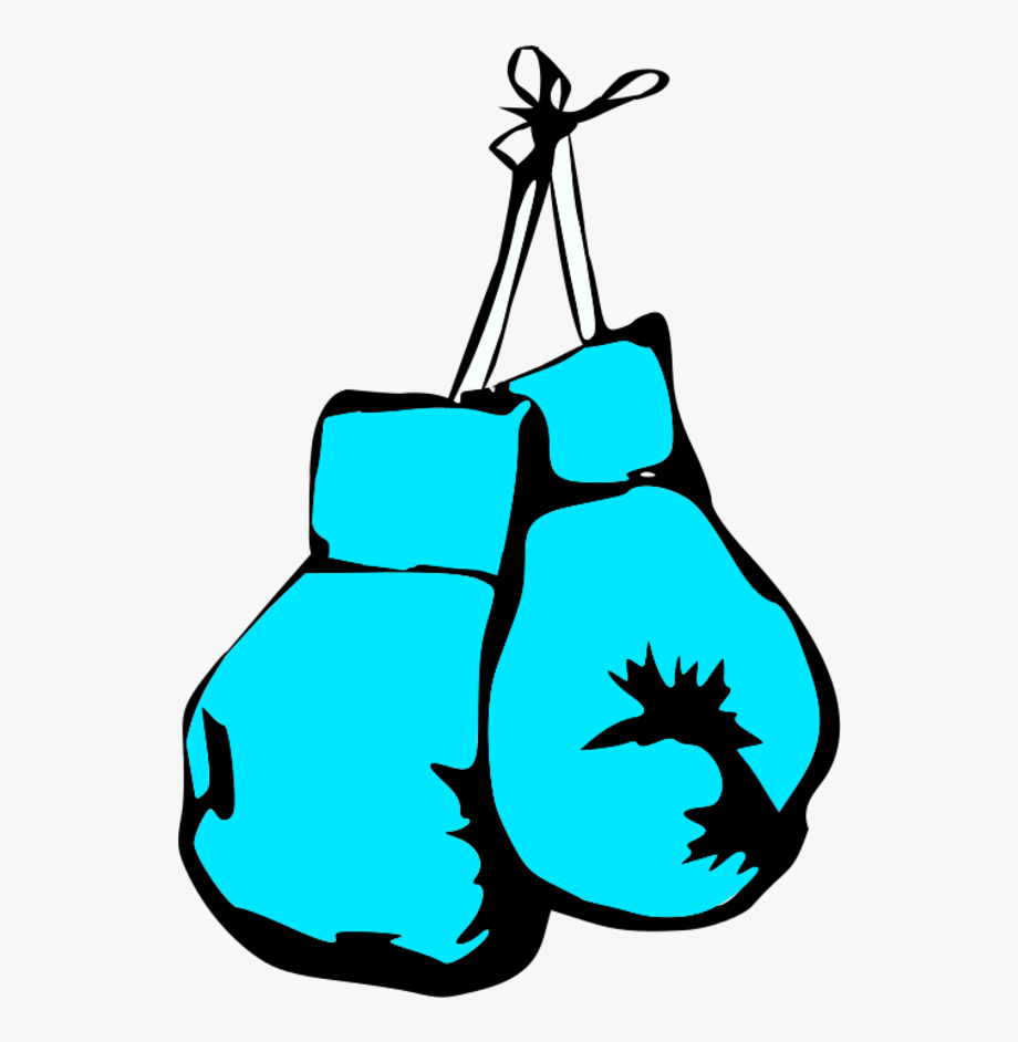 Blue Boxing Gloves Clipart.