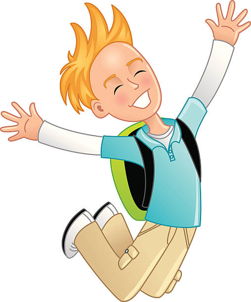 Cartoon Of A 10 Year Old Boy Clip Art, Vector Images.