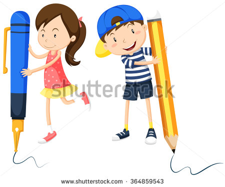 Boy Pencil Small Stock Images, Royalty.