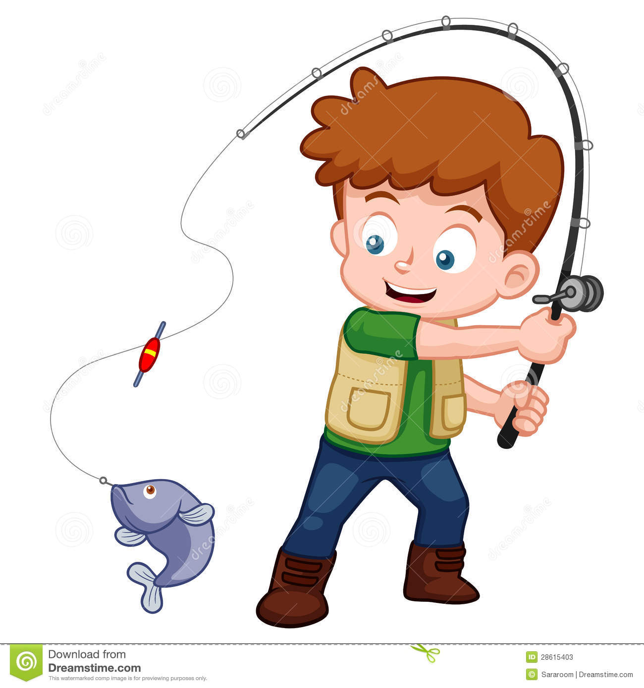 Boy fishing clipart 3 » Clipart Station.