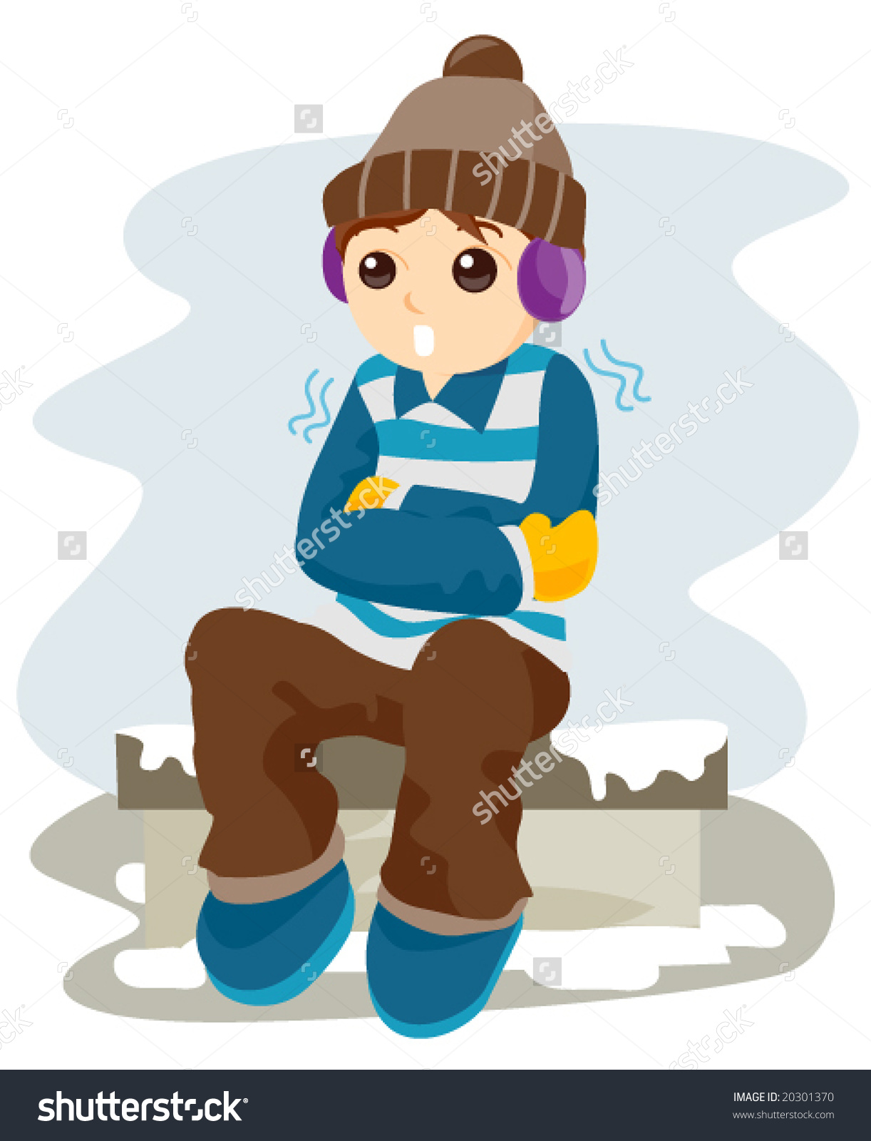 Freezing Cold Vector Stock Vector 20301370.
