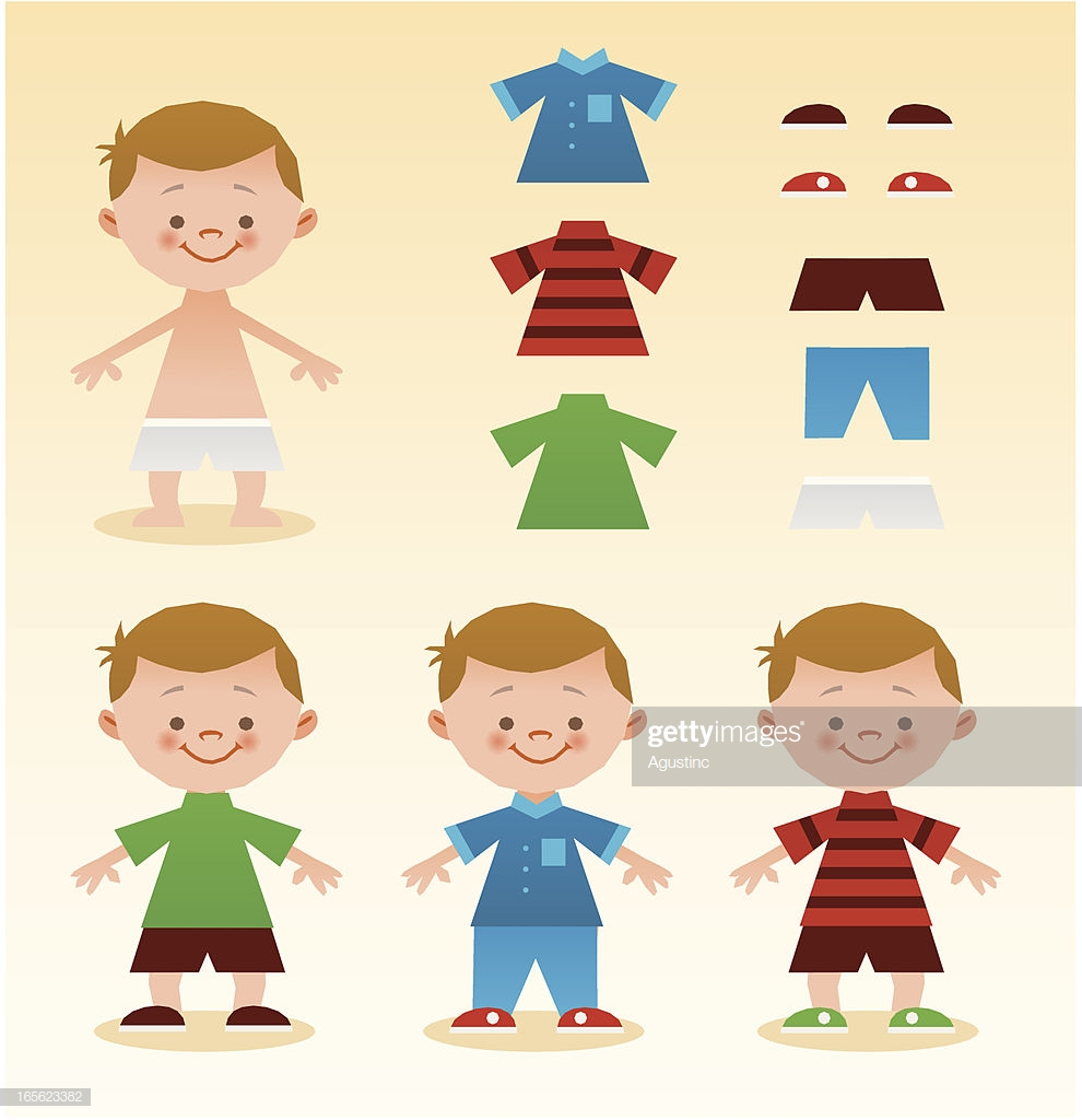 60 Top Getting Dressed Stock Illustrations, Clip art, Cartoons.