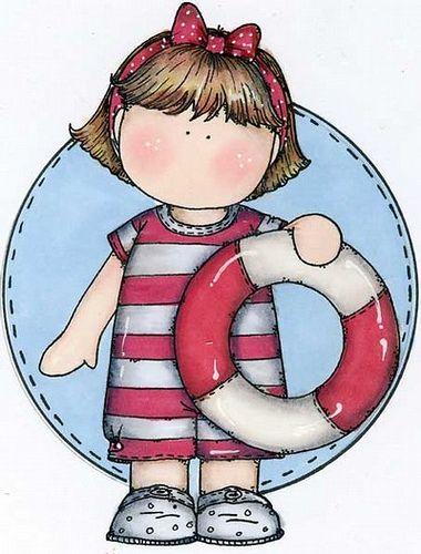 Summer, Clip art and Girls on Pinterest.