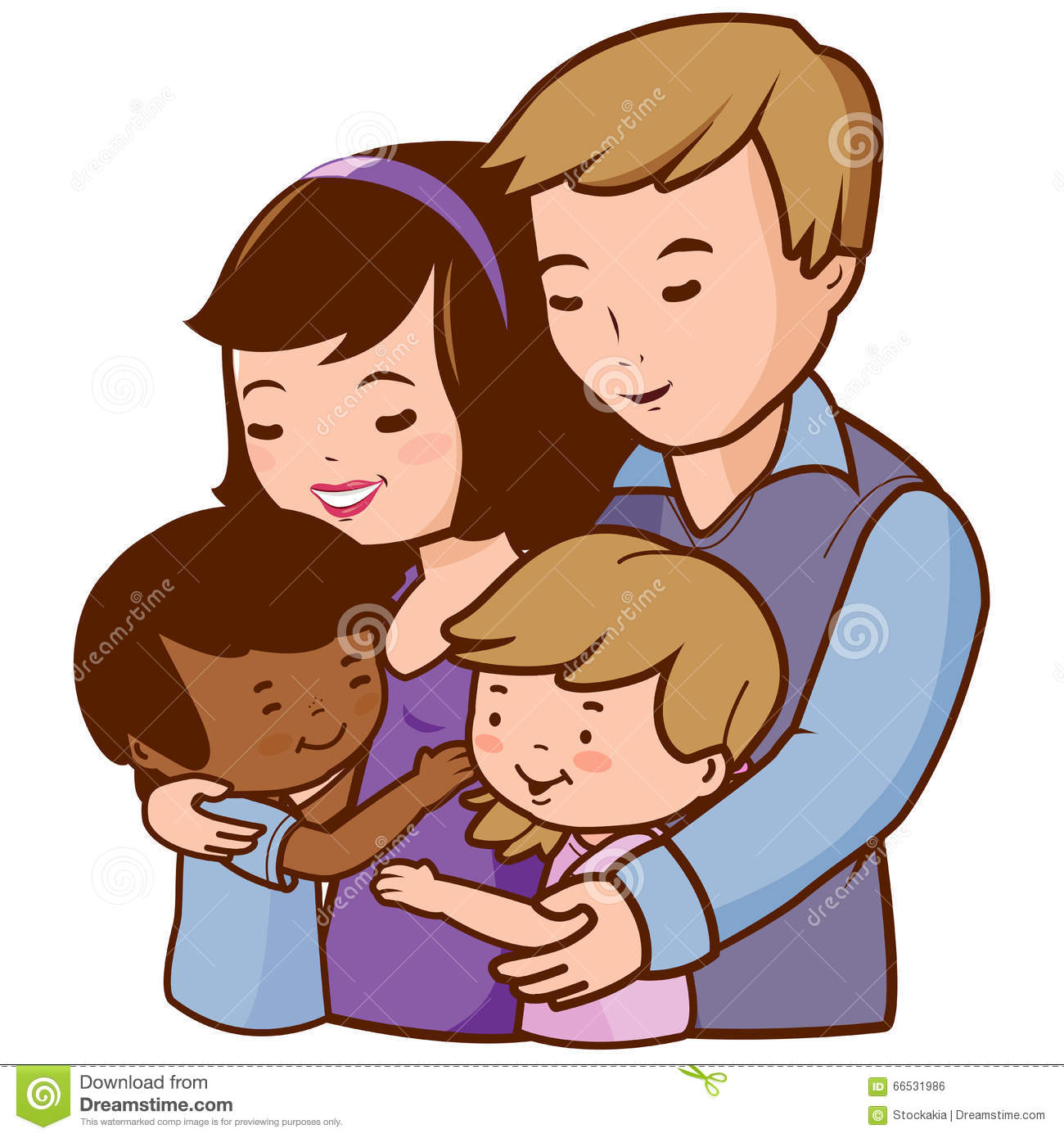 clipart boy hugging pa...