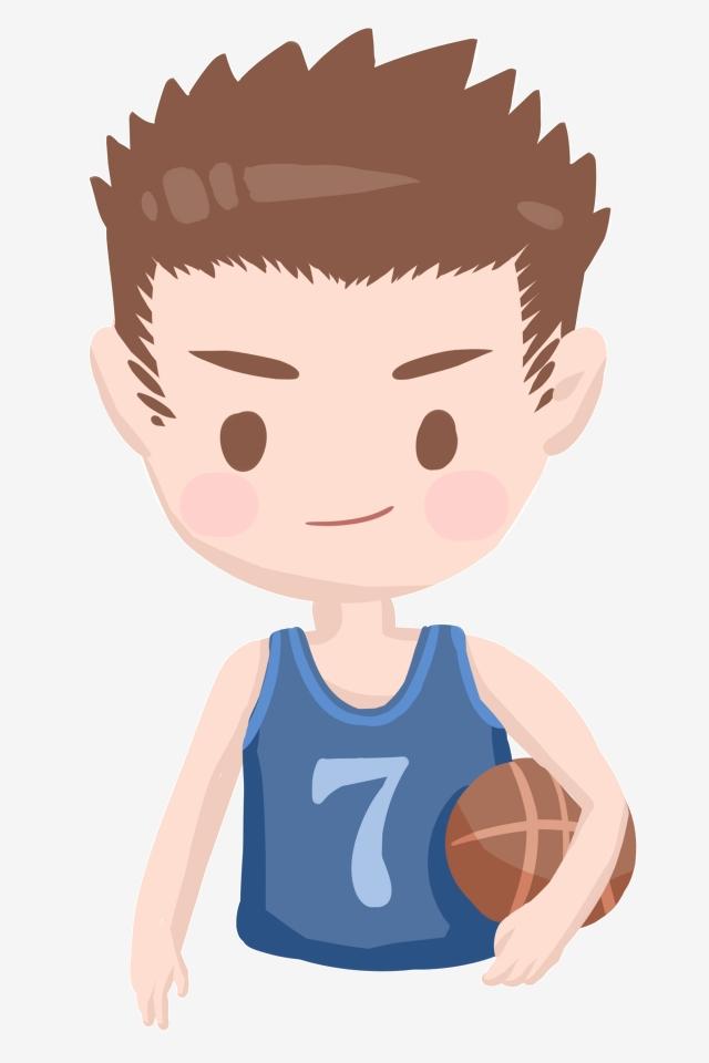 Little Boy Playing Basketball, Yellow Basketball, Round Basketball.