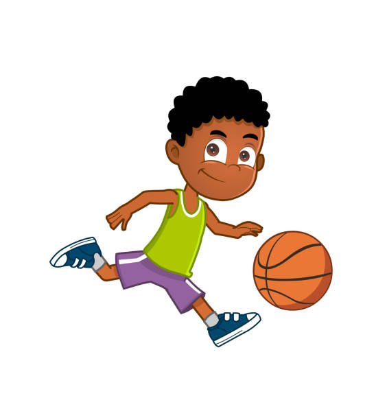 Best Youth Basketball Illustrations, Royalty.