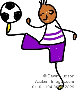Boy Soccer Player Clipart.