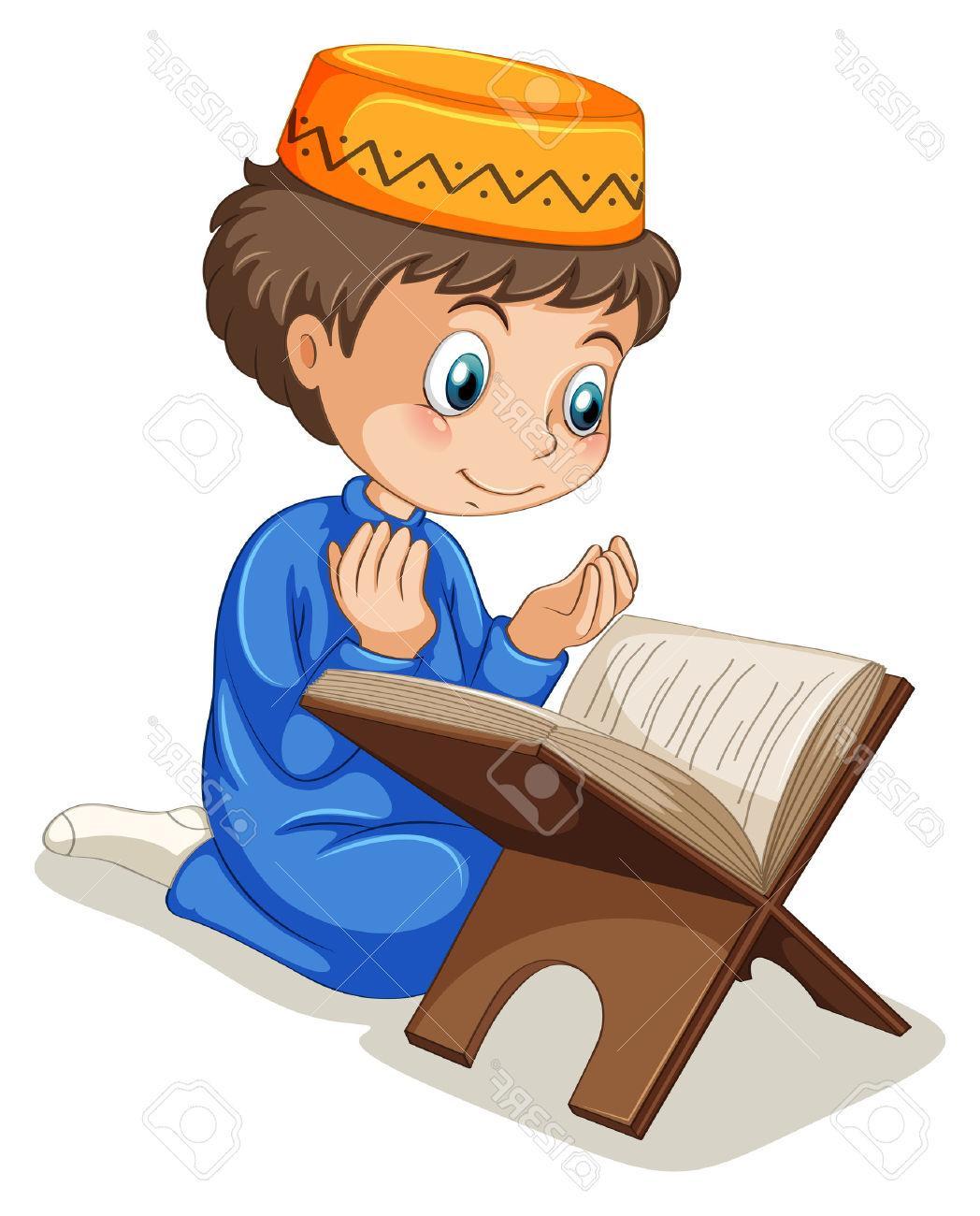 Boy Praying Clipart.