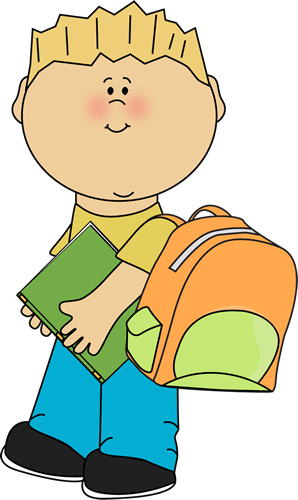 Boy going to school from MyCuteGraphics.