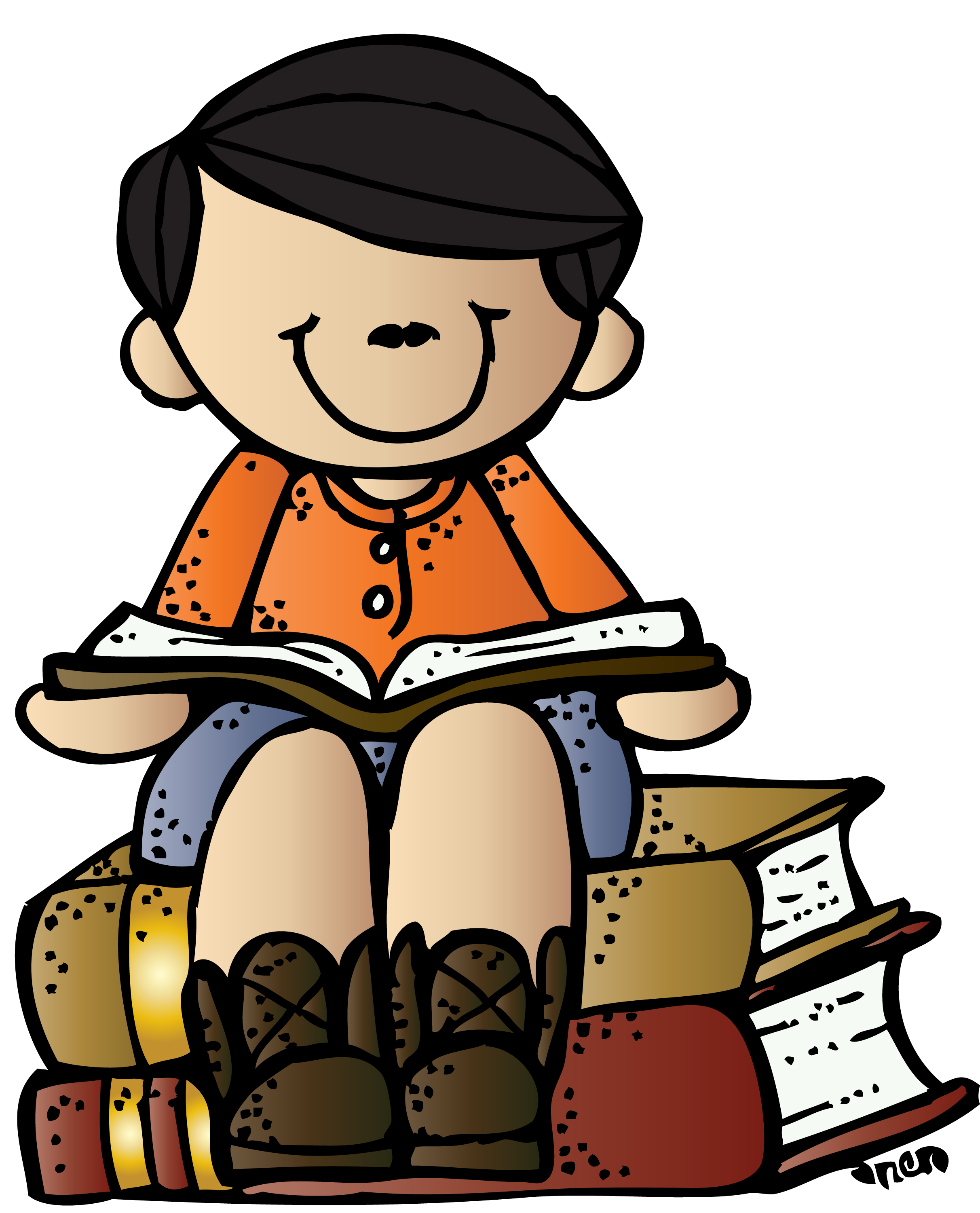 Girl reading on an iPad. More choices on the website. Sharing in.