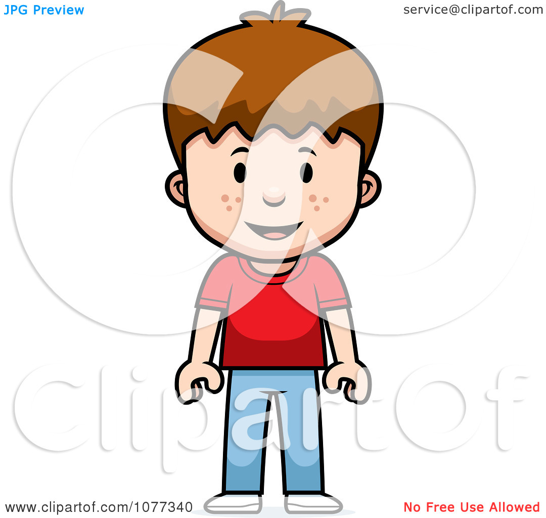 Clipart School Boy Standing.