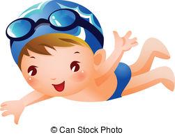 free clipart boy swimming #10