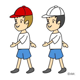 clipart boy walking clipground