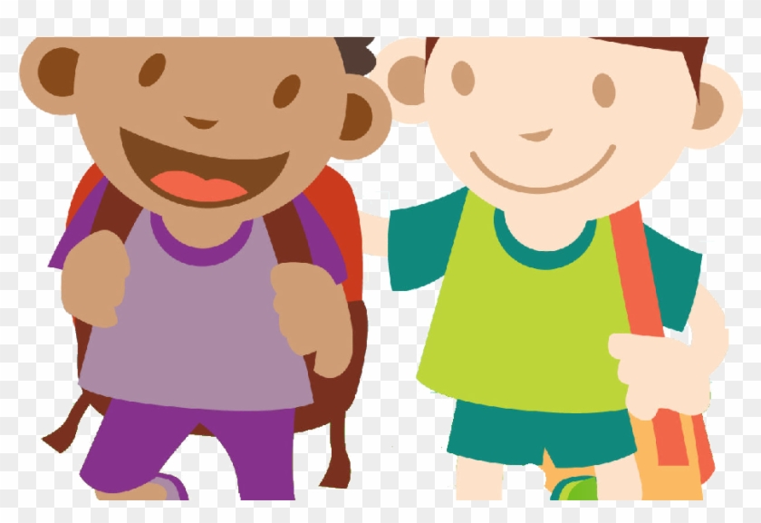 Walking Portable Child Vector Graphics Network Clipart.