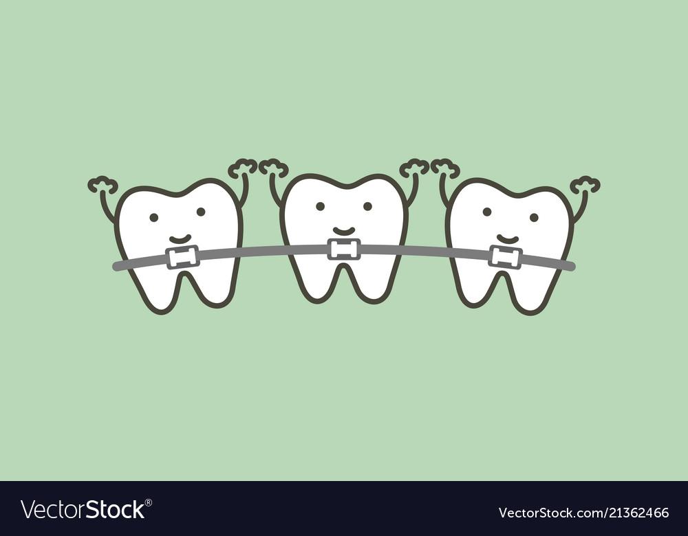 Orthodontics teeth or dental braces.