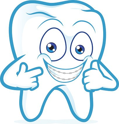 Tooth With Braces ON Teeth premium clipart.