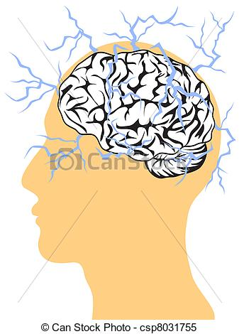 Clip Art of Brain (The Power Of Mind).