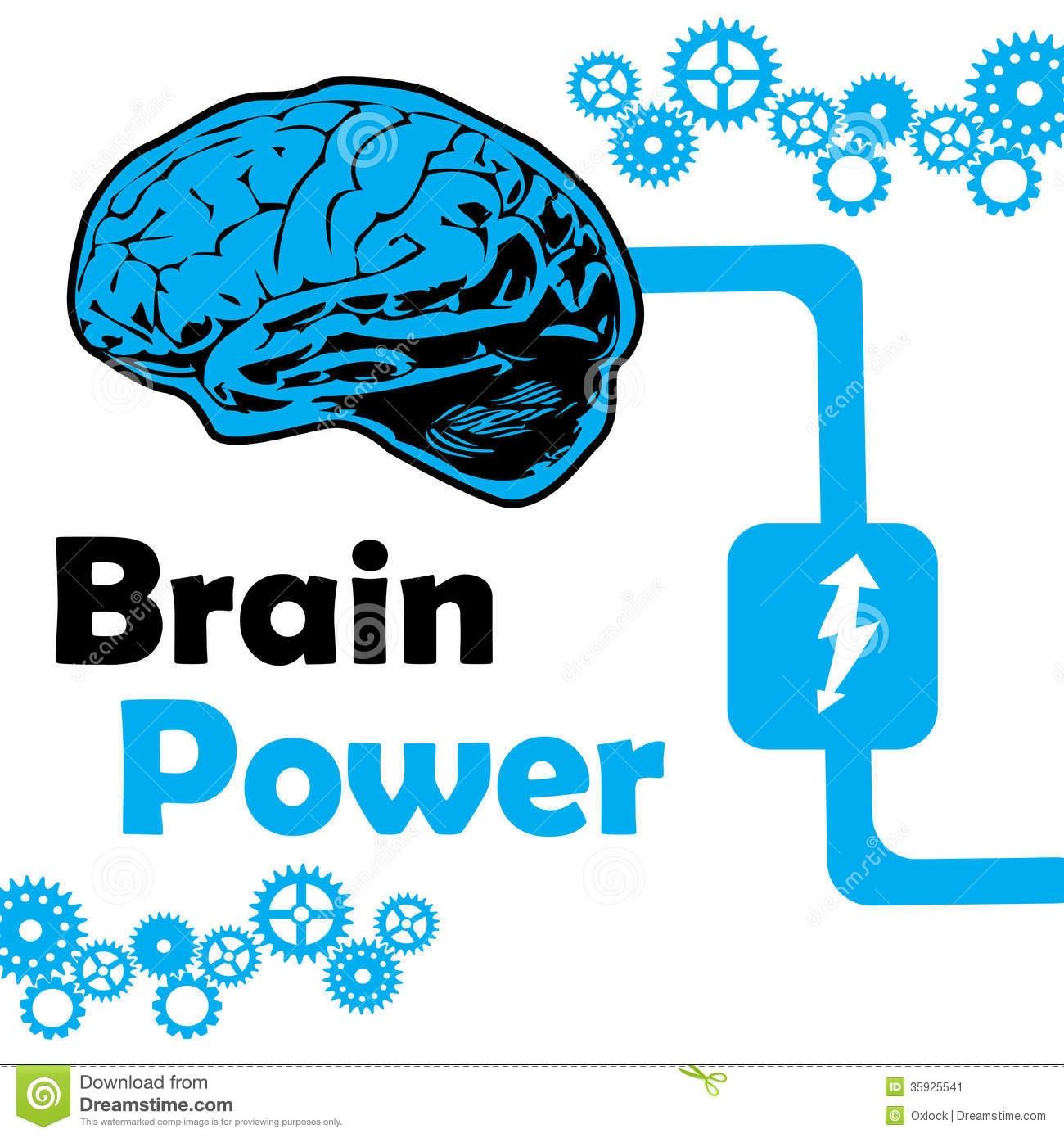 Clipart Brain Power.