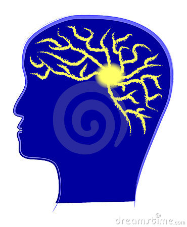 Brain Power Gear Stock Vector.